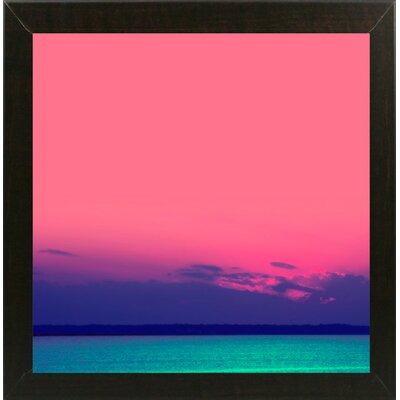 'Candy Sea' Graphic Art Print Format: Brazilian Walnut Medium Framed Paper, Size: 10.5