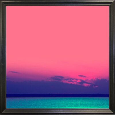 'Candy Sea' Graphic Art Print Format: Black Grande Framed Paper, Size: 10.5