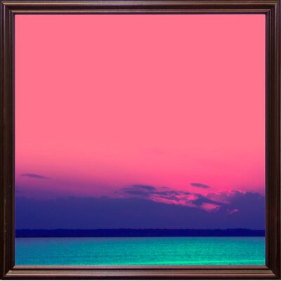 'Candy Sea' Graphic Art Print Format: Cherry Grande Framed Paper, Size: 10.5