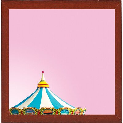 'Candy Carousel 2' Graphic Art Print Format: Red Mahogany Medium Framed Paper, Size: 11.25