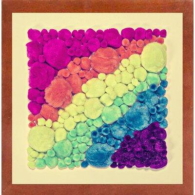 'Cottonballs' Graphic Art Print Format: Canadian Walnut Medium Framed Paper, Size: 11.5