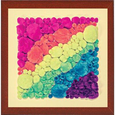 'Cottonballs' Graphic Art Print Format: Red Mahogany Medium Framed Paper, Size: 11.5