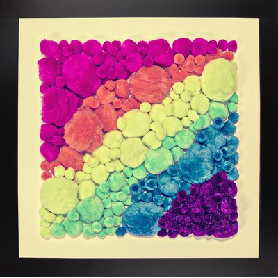 'Cottonballs' Graphic Art Print Format: Black Large Framed Paper, Size: 11.5