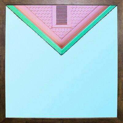 'Candygram' Graphic Art Print Format: Cafe Mocha Framed Paper, Size: 14.25