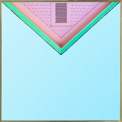 'Candygram' Graphic Art Print Format: Gold Metal Framed Paper, Size: 14.25