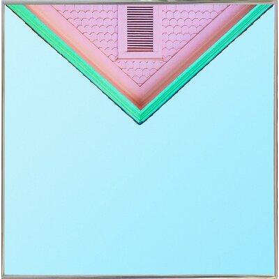 'Candygram' Graphic Art Print Format: Silver Metal Framed Paper, Size: 14.25