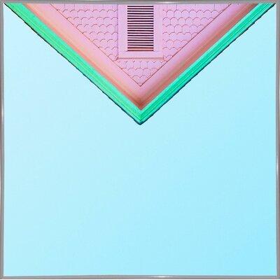 'Candygram' Graphic Art Print Format: White Metal Framed Paper, Size: 14.25