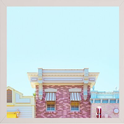 'Candy Shops' Graphic Art Print Format: White Medium Framed Paper, Size: 17.25