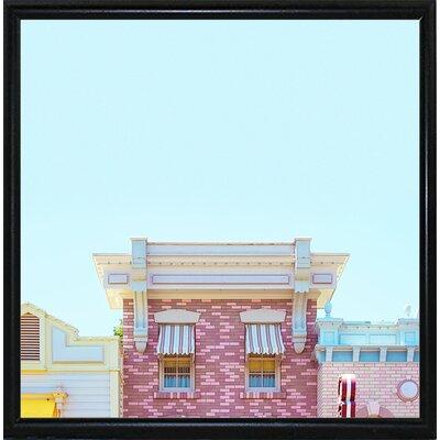 'Candy Shops' Graphic Art Print Format: Flat Black Metal Framed Paper, Size: 17.25