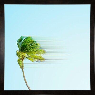 'Disintegrate' Graphic Art Print Format: Black Medium Framed Paper, Size: 8.25