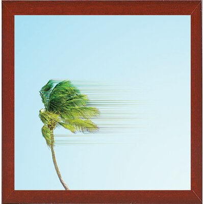 'Disintegrate' Graphic Art Print Format: Red Mahogany Medium Framed Paper, Size: 8.25