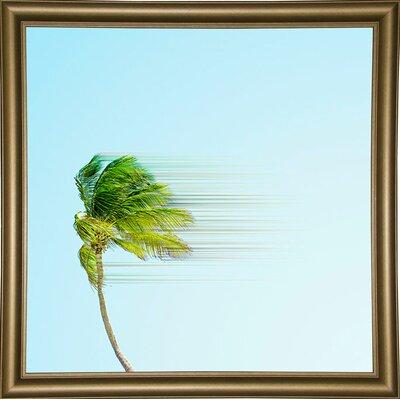 'Disintegrate' Graphic Art Print Format: Bistro Gold Framed Paper, Size: 8.25