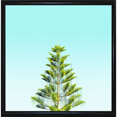 'Branch Out' Graphic Art Print Format: Flat Black Metal Framed Paper, Size: 9.25