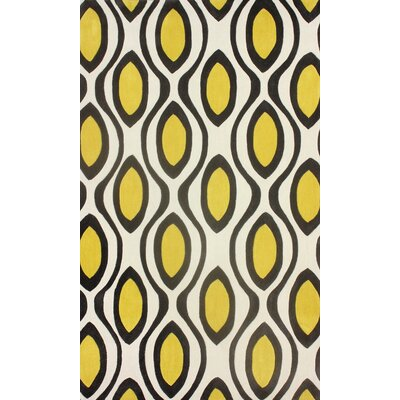 Cine Lemon & Ivory Rupert Area Rug Rug Size: Rectangle 5 x 8
