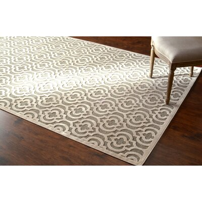 Velu Light Gray Area Rug Rug Size: Rectangle 77 x 10