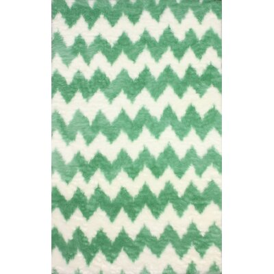 Block Island Green/While Area Rug Rug Size: Rectangle 5 x 8