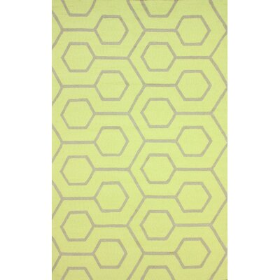 Air Libre Hand-Hooked Lime Light Indoor/Outdoor Area Rug Rug Size: Rectangle 9 x 12