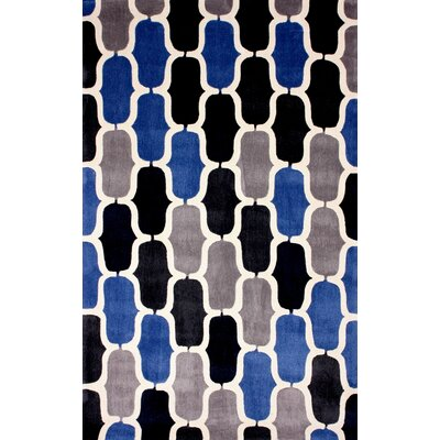 Cine Hand-Tufted Blue/Gray Area Rug Rug Size: Rectangle 5 x 8