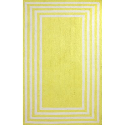 Block Yellow Island Klauss Faux Area Rug Rug Size: 76 x 96