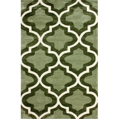 Cine Hand-Tufted Green Area Rug Rug Size: Rectangle 76 x 96