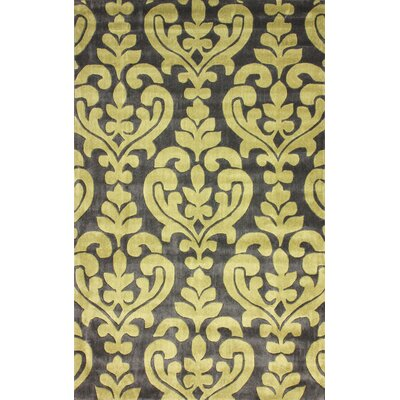 Cine Hand-Tufted Gray/Yellow Area Rug Rug Size: Rectangle 5 x 8