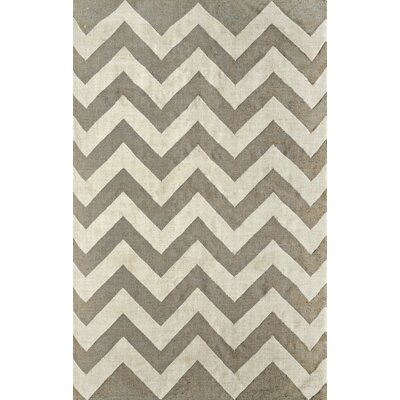 Varanas Hand-Woven Gray/Ivory Area Rug Rug Size: Rectangle 86 x 116