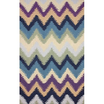Heritage Hand-Hooked Multi-color Area Rug Rug Size: 5 x 8