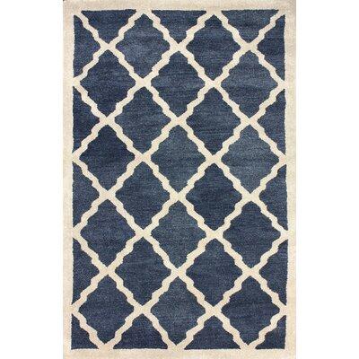 Varanas Hand-Tufted Wool Navy Area Rug Rug Size: Rectangle 4 x 6