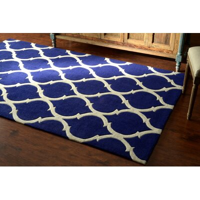 Cine Marco Hand-Tufted Navy Area Rug Rug Size: Rectangle 5 x 8