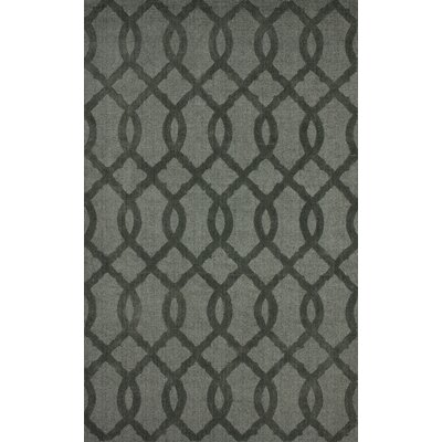 Varanas Hand-Woven Wool Gray Area Rug Rug Size: Rectangle 76 x 96