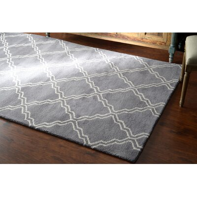 Varanas Hand-Tufted Wool Gray Area Rug Rug Size: Rectangle 76 x 96
