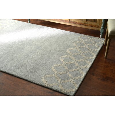 Varanas Hand-Tufted Wool Gray Area Rug Rug Size: Rectangle 86 x 116