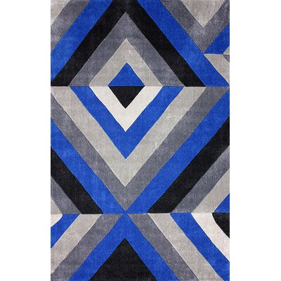 Cine Hand-Tufted Dark Blue Area Rug Rug Size: Rectangle 86 x 116