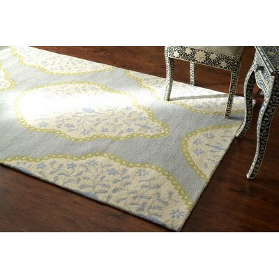 Varanas Hand-Tufted Wool Baby Blue Area Rug Rug Size: Rectangle 5 x 8