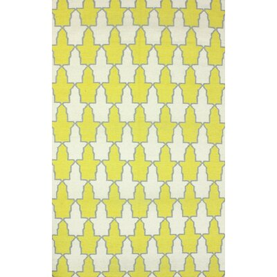 Remade Yellow Trina Rug Rug Size: 76 x 96
