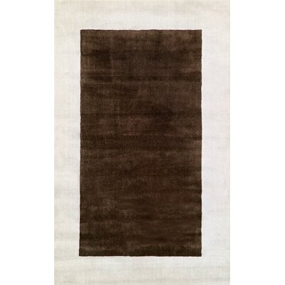 Occhena Hand-Woven Wool Brown Area Rug Rug Size: Rectangle 76 x 96