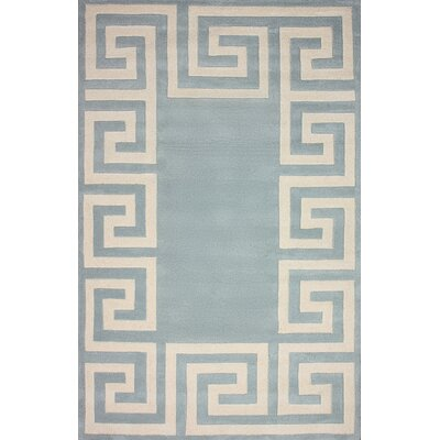Filigree Santorini Hand-Woven Light Slate Area Rug Rug Size: Rectangle 76 x 96