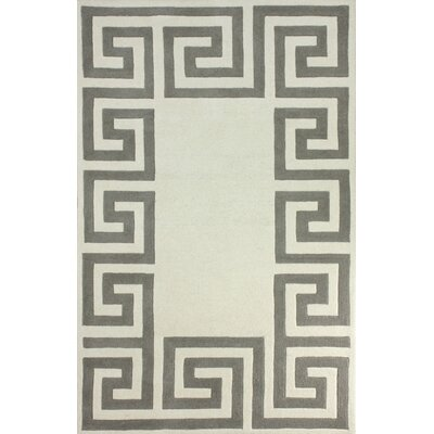 Filigree Hand-Tufted Beige Area Rug Rug Size: Rectangle 76 x 96