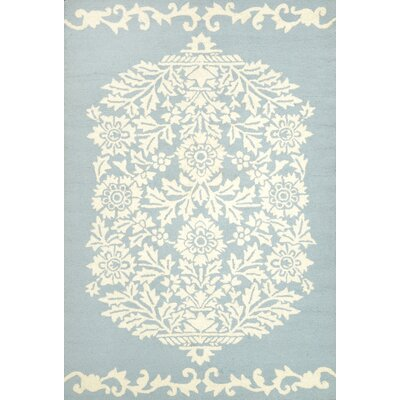 Repca Nyslsay Hand-Woven Blue/Cream Area Rug Rug Size: Rectangle 86 x 116