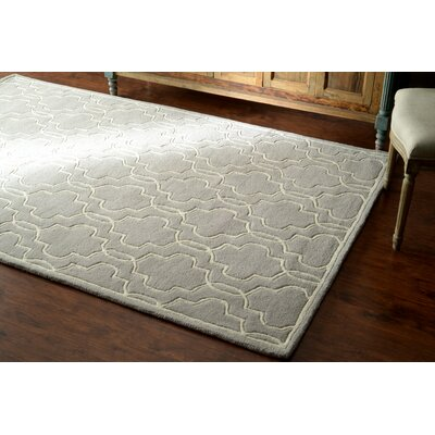 Venice Hand-Tufted Wool Gray Area Rug Rug Size: Rectangle 76 x 96