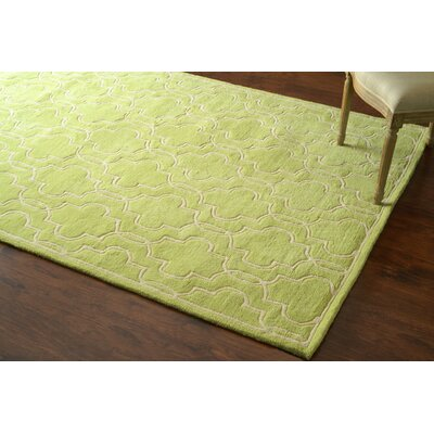Venice Hand-Tufted Wool Green Area Rug Rug Size: Rectangle 76 x 96