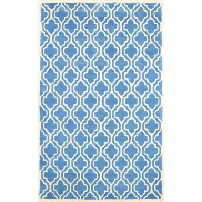 Venice Hand-Tufted Light Blue Area Rug Rug Size: 76 x 96