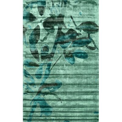 Europe Hand-Loomed Green Area Rug Rug Size: 5 x 8