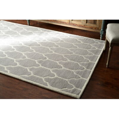 Venice Hand-Tufted Wool Gray Area Rug Rug Size: Rectangle 86 x 116
