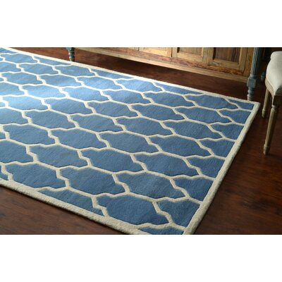 Venice Hand-Tufted Wool Light Blue Area Rug Rug Size: Rectangle 86 x 116