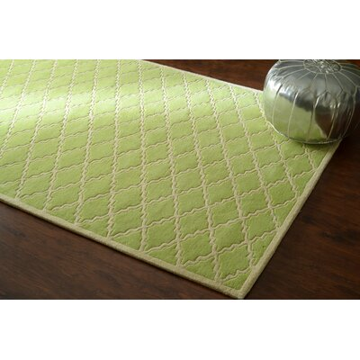 Venice Hand-Tufted Wool Green Area Rug Rug Size: Rectangle 5 x 8