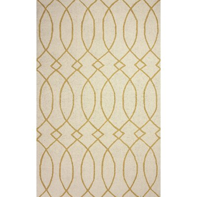 Barcelona Hand-Hooked Beige Area Rug Rug Size: Rectangle 76 x 96