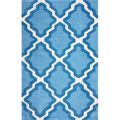Cine Blue Inez Indoor/Outdoor Area Rug Rug Size: 76 x 96