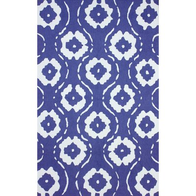 Vista Hand-Hooked Blue Area Rug Rug Size: Rectangle 76 x 96