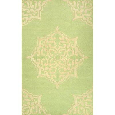 Varanas Hand-Woven Green Area Rug Rug Size: Rectangle 86 x 116